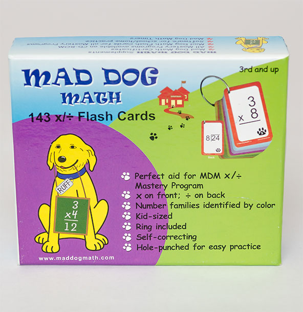 mdm flash cards 3rd grade and up mad dog math. Black Bedroom Furniture Sets. Home Design Ideas